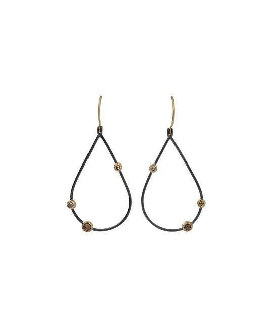 Todd Reed - Black Openwork Teardrop Diamond Earrings - Lyst