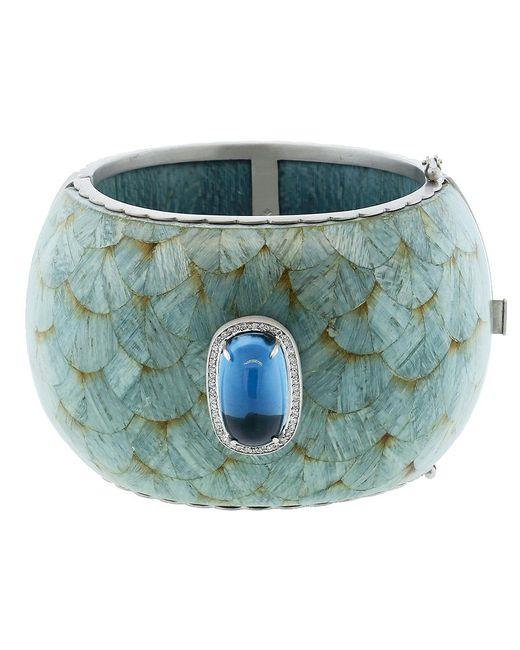 Silvia Furmanovich | Marquetry Light Blue Cuff Bracelet | Lyst