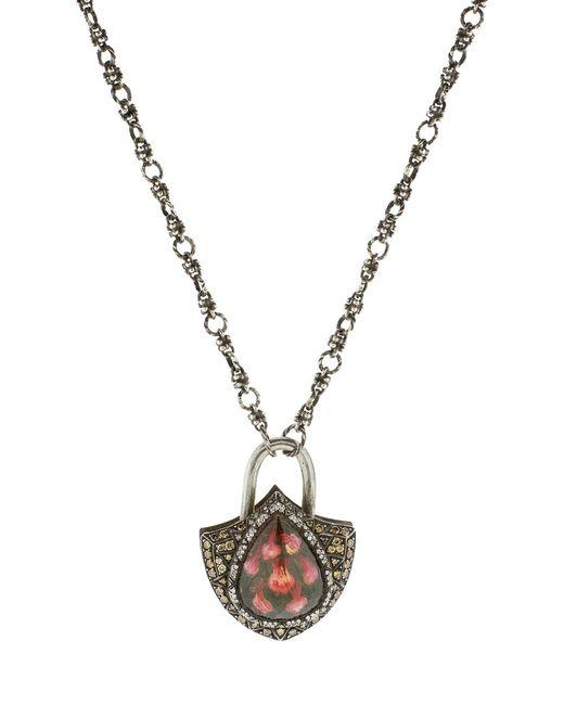 Sevan Biçakci - Metallic Carved Tulip Lock Pendant In Citrine - Lyst