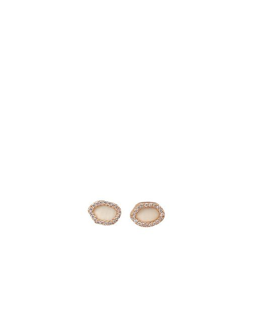 Monique Péan - Natural Woolly Mammoth Diamond Stud Earrings - Lyst