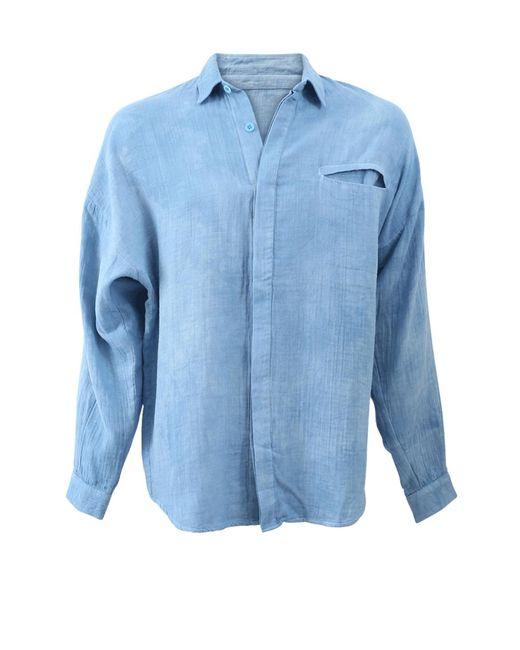 The Elder Statesman   Blue Guaze Pocket Shirt   Lyst