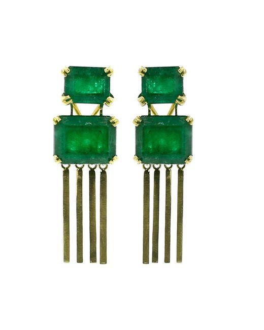 Sylva & Cie | Green Brazilian Emerald Earrings | Lyst