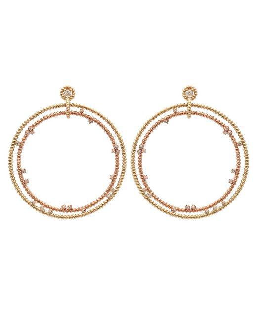 Nancy Newberg - Metallic Double Floating Diamond Hoop Earrings - Lyst