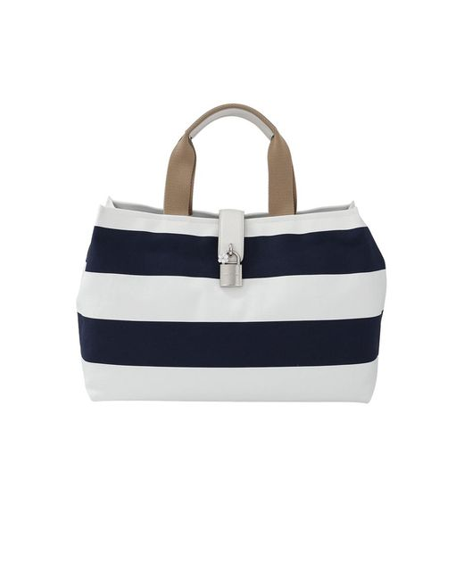 Dolce & Gabbana | Blue Canvas Striped Shopper | Lyst