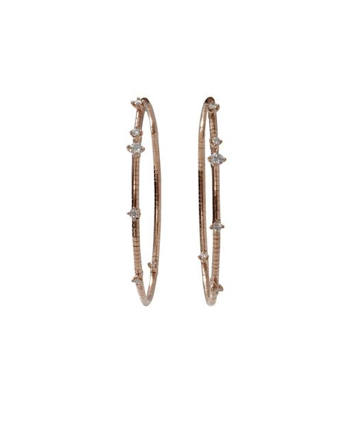 Mattia Cielo | Metallic Rugiada Diamond Pave Hoop Earrings | Lyst