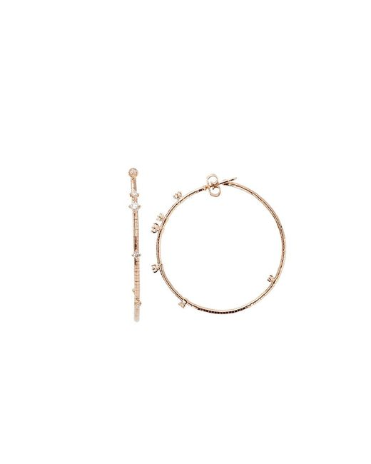 Mattia Cielo | Pink Rugiada Diamond Hoop Earrings | Lyst