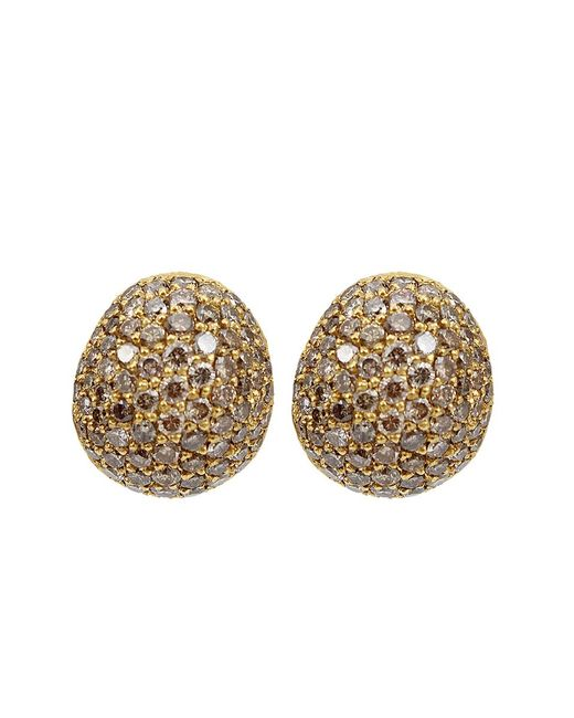 Yossi Harari | Brown Small Cognac Diamond Roxanne Earrings | Lyst