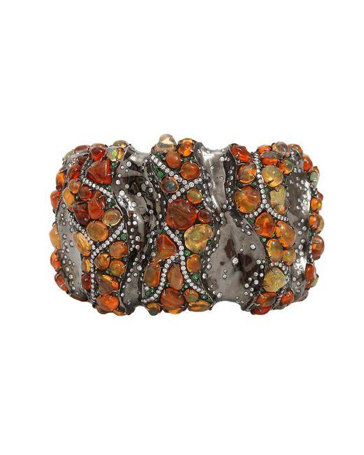 Arunashi | Red Fire Opal Cuff Bracelet | Lyst
