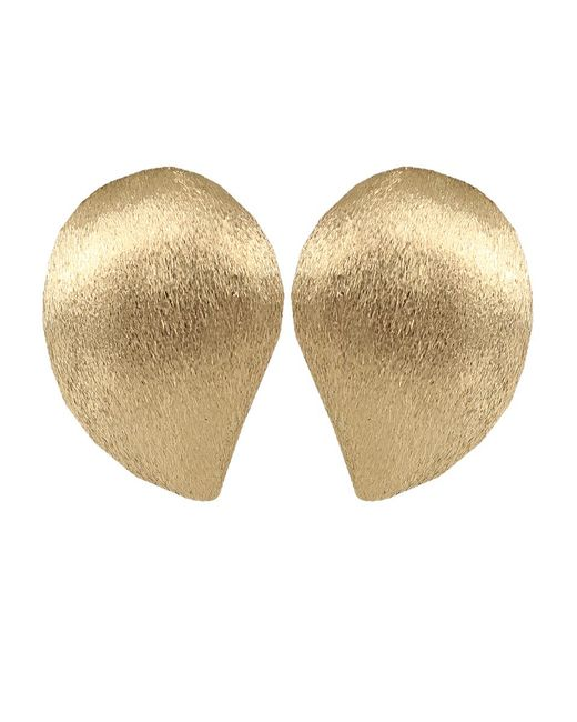 Yvel | Metallic Large Handmade 18k Yellow Gold Earrings | Lyst