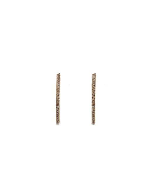 Yossi Harari | Brown Lilah Cognac Diamond Pave Hoop Earrings | Lyst