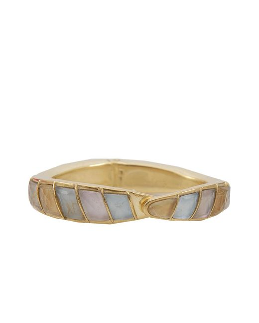 Vaubel | Metallic Stone Hinged Cuff | Lyst