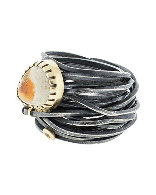 Boaz Kashi - Metallic Opal Wire Wrap Ring - Lyst