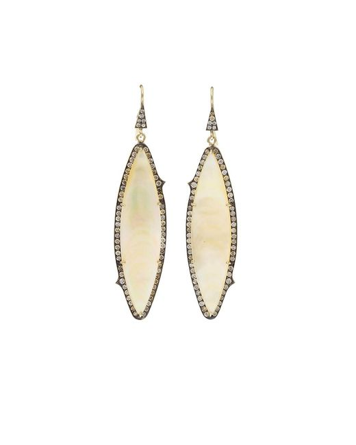 Sylva & Cie - Metallic Mother-of-pearl Earrings - Lyst