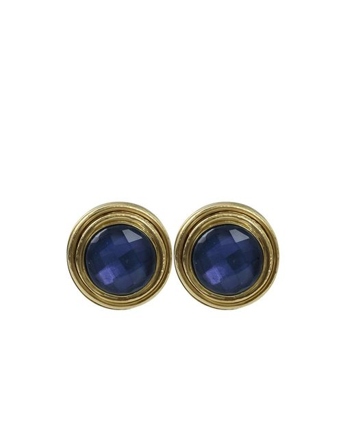 Vaubel | Blue Stone Bezel Clip Earrings | Lyst