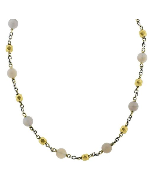 Sylva & Cie - Metallic Opal And Vintage Bead Necklace - Lyst