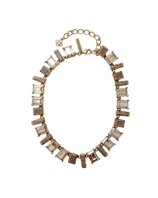 Oscar de la Renta | Metallic Colorway Shadow Necklace | Lyst