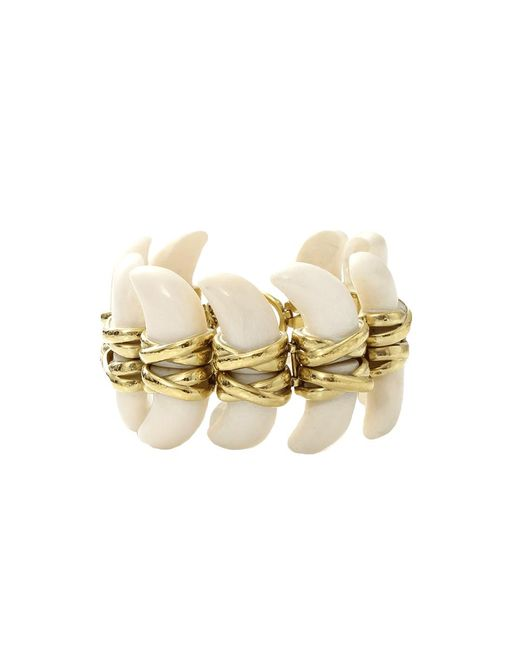 Vaubel | Metallic Connected Bone Bracelet | Lyst