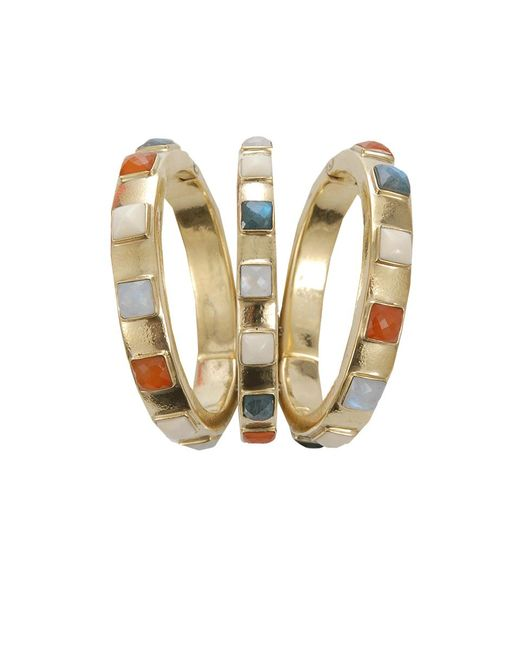 Vaubel - Metallic Square Stone Triple Bangle - Lyst