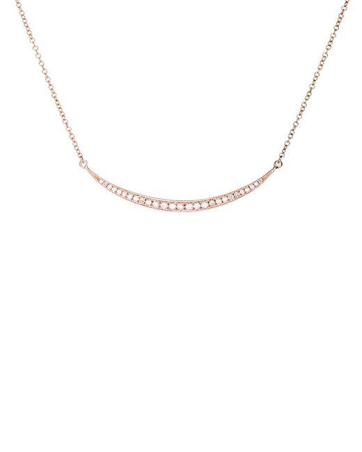 EF Collection - Metallic Diamond Mini Crescent Necklace - Lyst