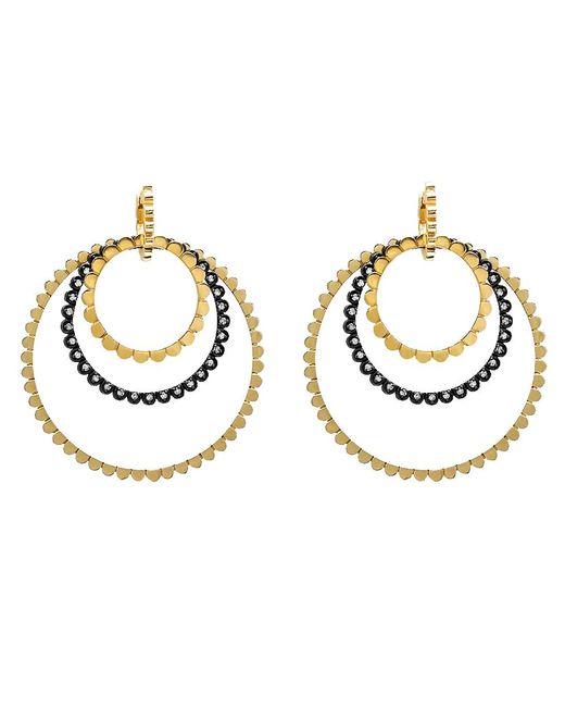 Nancy Newberg - Metallic Four Silver And Diamond Link Hoop Earrings - Lyst