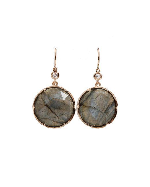 Irene Neuwirth - Gray Rose Cut Labradorite Earrings - Lyst