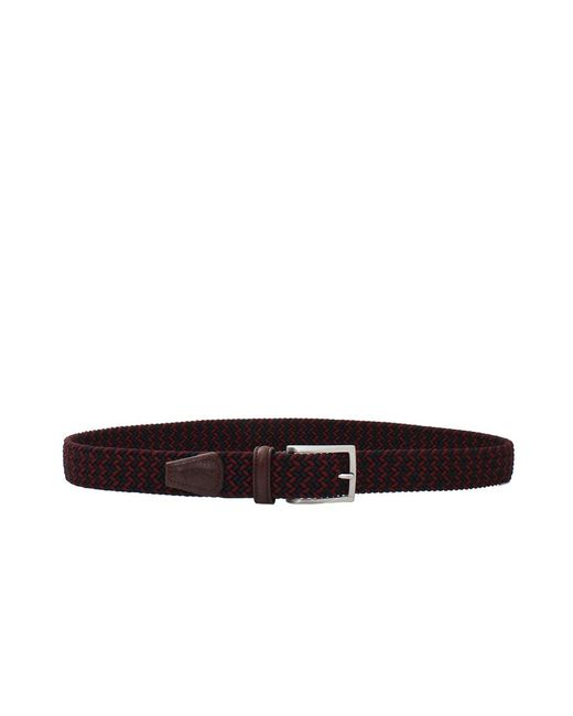 Luciano Barbera   Purple Solid Braided Belt for Men   Lyst