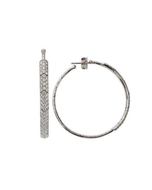 Mattia Cielo   White Rugiada Diamond Pave Hoop Earrings   Lyst