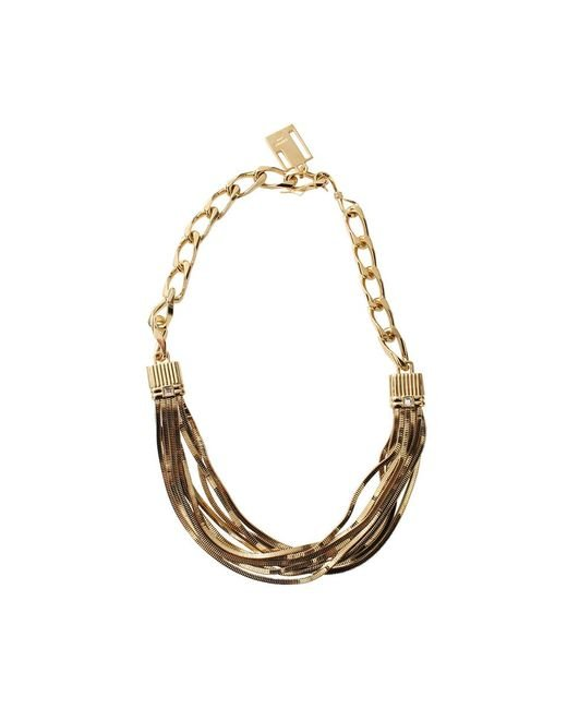 Lanvin | Metallic Art Deco Short Necklace | Lyst