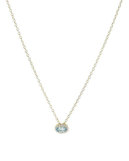 Alison Lou - Multicolor Blue Topaz Pendant Necklace - Lyst