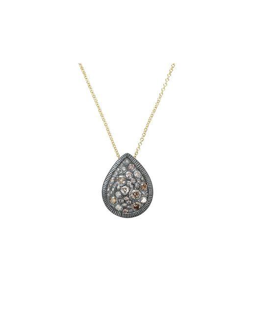 Todd Reed | Metallic Autumn Mixed Diamond Pear Necklace | Lyst