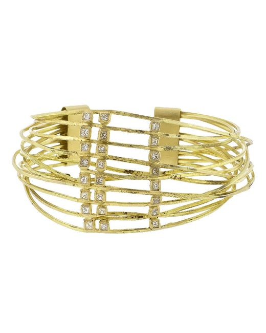 Boaz Kashi - Metallic Diamond Wire Wrap Cuff Bracelet - Lyst