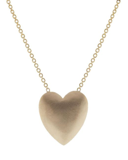 Irene Neuwirth Multicolor Extra Large Heart Flat Gold Necklace