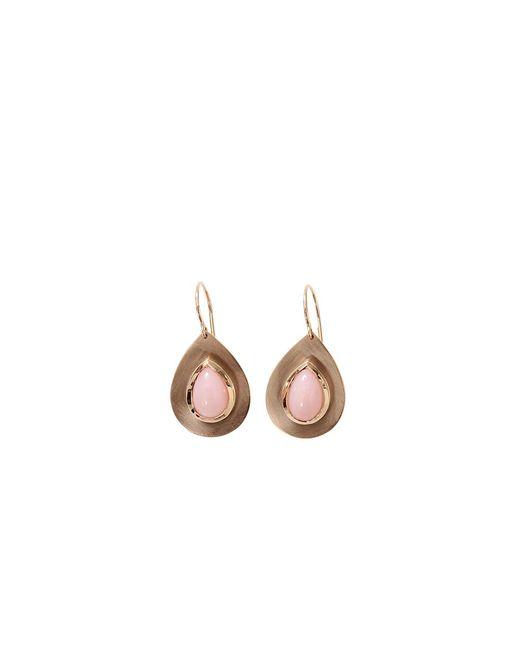 Irene Neuwirth | Flat Gold Pink Opal Earrings | Lyst