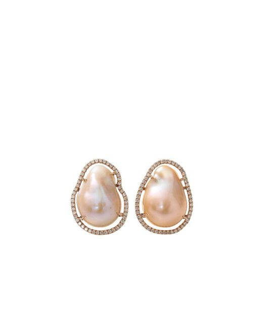 Jordan Alexander | Natural Fresh Water Pearl Slice Earrings | Lyst