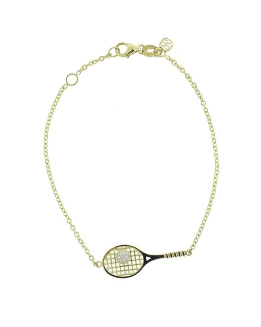 Sydney Evan | Metallic Tennis Raquet Bracelet | Lyst