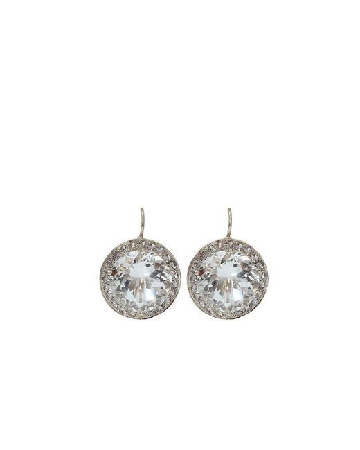 Andrea Fohrman - Metallic 15mm Rock Crystal And Sapphire Earrings - Lyst