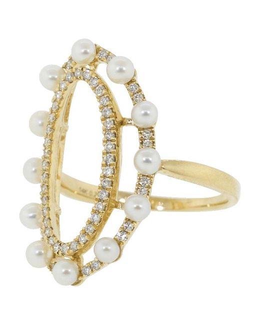 Dana Rebecca Metallic Pearl Ivy Ring