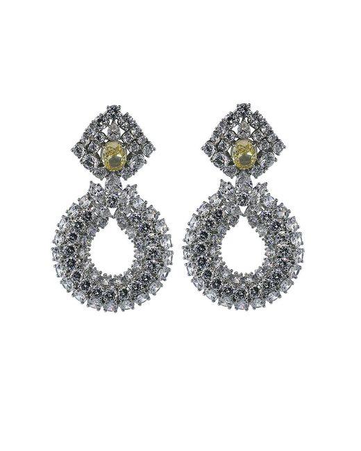 Fantasia Jewelry - Metallic Three Row Drop Earrings - Lyst