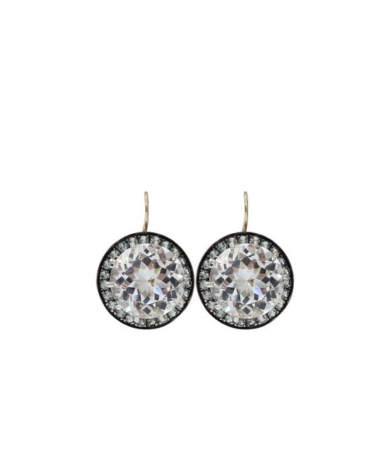 Andrea Fohrman | Multicolor 15mm Rock Crystal And Sapphire Earrings | Lyst