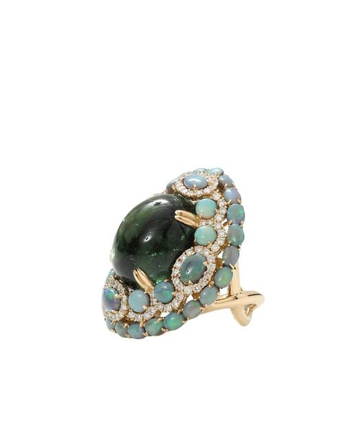 Wendy Yue | Green Tourmaline With Opal And Diamond Ring | Lyst