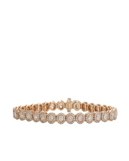 Inbar | Pink Oval Diamond Pave Tennis Bracelet | Lyst