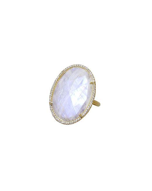 Irene Neuwirth | Metallic Rose Cut Rainbow Moonstone Ring | Lyst