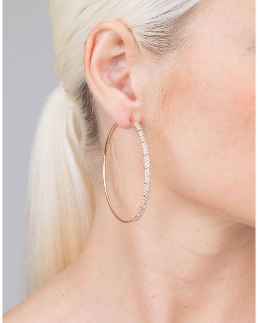 Mattia Cielo | Metallic Rugiada Diamond Pave Hoop Earrings | Lyst