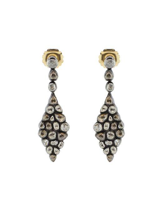 Yossi Harari | Metallic Cascade Diamond Earrings | Lyst