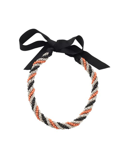 Lanvin | Orange Virna Twisted Bead Necklace | Lyst