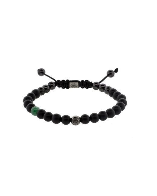 Shamballa Jewels - Multicolor Emerald And Onyx Bead Bracelet - Lyst