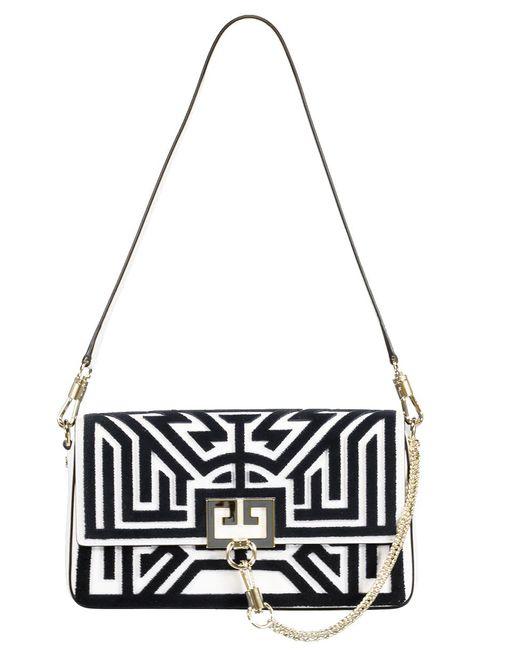 Givenchy White Tufted Labyrinth Charm Shoulder Bag