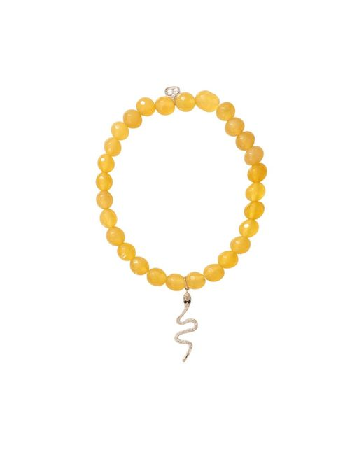 Sydney Evan | Metallic Diamond Snake Beaded Bracelet | Lyst