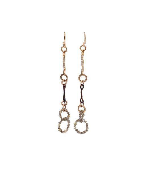 Federica Rettore | Metallic Nodi D'amore Earrings | Lyst