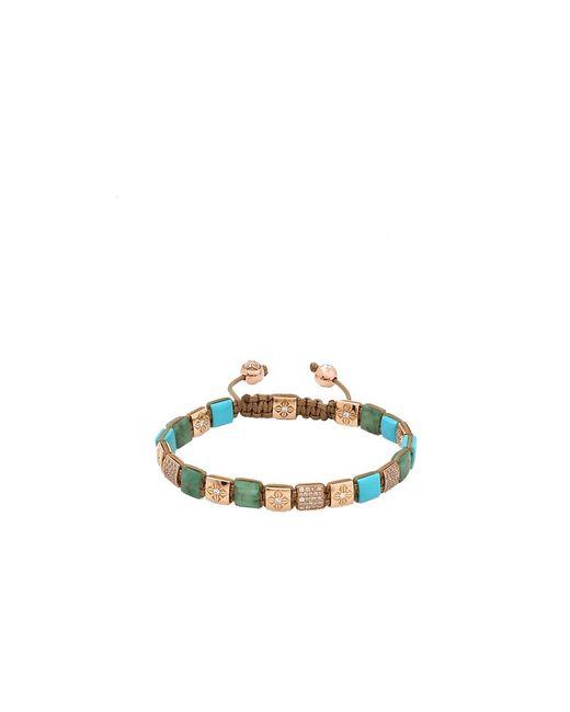 Shamballa Jewels | Metallic Emerald And Turquoise Lock Bracelet | Lyst